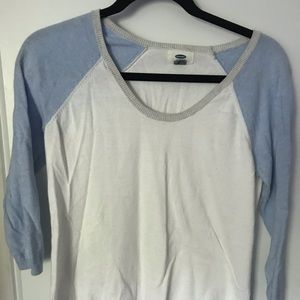 Old Navy baseball style/raglan sweater